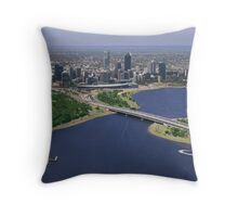 Perth From Above Throw Pillow