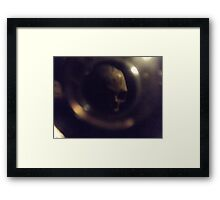 Lost Skull In Paris Catacombs  Framed Print