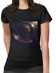 Lost Skull In Paris Catacombs  Womens Fitted T-Shirt