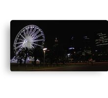 Perth Wheel At Night  Canvas Print