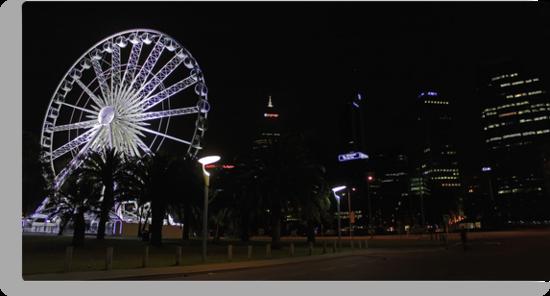 Perth Wheel At Night  by EOS20