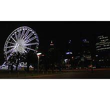 Perth Wheel At Night  Photographic Print