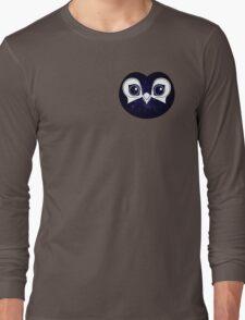 Dark Blue Owl Long Sleeve T-Shirt