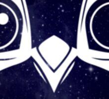 Dark Blue Owl Sticker