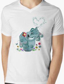 Blair the Elephant Mens V-Neck T-Shirt