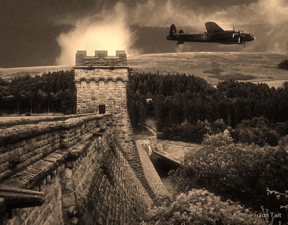 Lancaster over Derwent Dam by Jon Tait