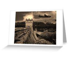 Lancaster over Derwent Dam Greeting Card