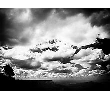 Clouds clearing over Sutton Bank Photographic Print