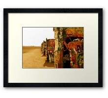 Cadillac Ranch Framed Print