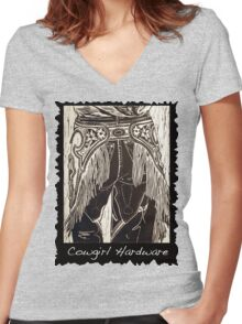 Cowgirl Hardware Women's Fitted V-Neck T-Shirt