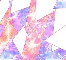 Colorful Bright Geometric Watercolor Paint Pattern by Blkstrawberry