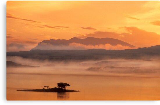 Ben Loyal Sunrise, Flow Country, Northern Scotland. by photosecosse /barbara jones