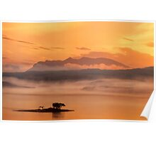 Ben Loyal Sunrise, Flow Country, Northern Scotland. Poster