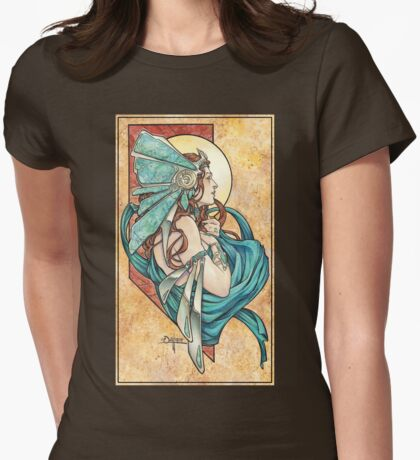 Turquoise Womens Fitted T-Shirt