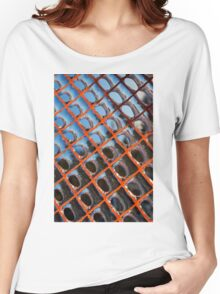 Frozen Patterns in Orange and Blue Women's Relaxed Fit T-Shirt