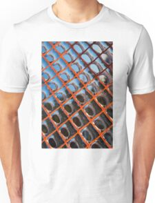 Frozen Patterns in Orange and Blue Unisex T-Shirt