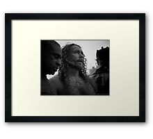 What Does He See? Portrait in Black and White Framed Print