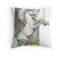 Unicorn Moon Throw Pillow