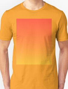 modern trendy abstract Yellow Orange Ombre T-Shirt