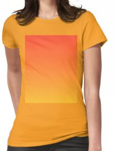 modern trendy abstract Yellow Orange Ombre Womens Fitted T-Shirt