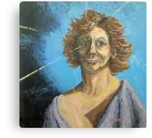 A portrait of someone... Full of deLIGHT... and a Sagittarius! Canvas Print
