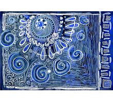 Abstraction in blue Photographic Print