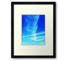Feather in the Sky Framed Print