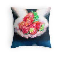 I Love Strawberries [Gary Guthrie] Throw Pillow