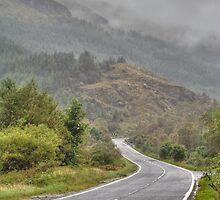 Scottish road by Mirko Herzner