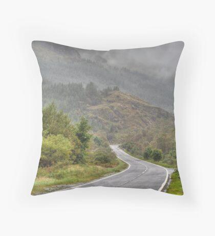 Scottish road Throw Pillow