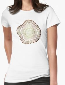 Tree Rings – Watercolor Womens Fitted T-Shirt