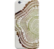 Tree Rings – Watercolor iPhone Case/Skin