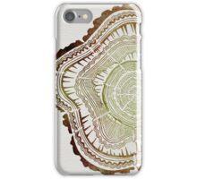 Tree Rings – Watercolor iPhone Case/Skin
