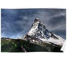 Matterhorn with fuzzy sky Poster