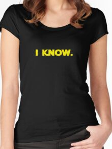 I love you. I know. (I know version) Women's Fitted Scoop T-Shirt