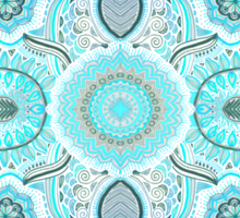 Through Ocean & Sky - turquoise & blue Moroccan pattern Sticker