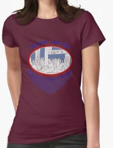 JFK crowd watching and sketching~~~ Womens Fitted T-Shirt