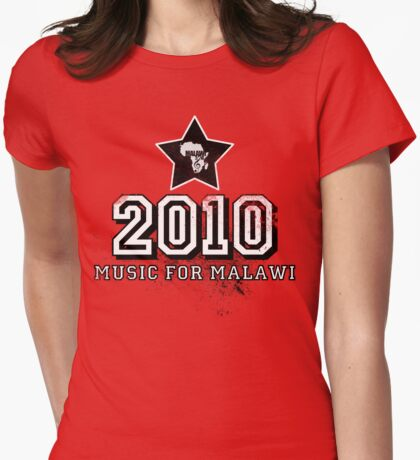 Old School Retro 2010 Black Womens Fitted T-Shirt