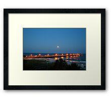 Full Moon At The Pier Framed Print