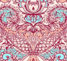 Natural Rhythm - a hand drawn pattern in peach, mint & aqua Sticker