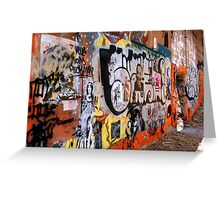 Urban Art Gallery Greeting Card