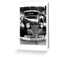 Cadillac Black Greeting Card
