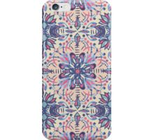 Protea Pattern in Blue, Cream & Coral iPhone Case/Skin
