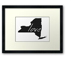 Love New York Framed Print