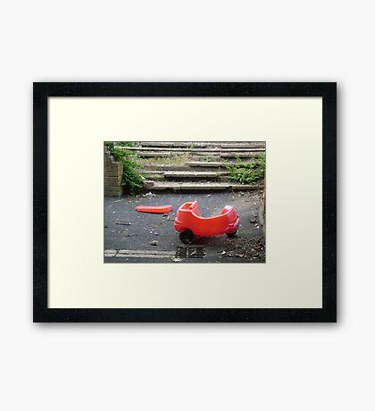 Little red car. Framed Print