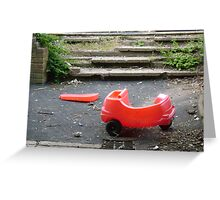 Little red car. Greeting Card