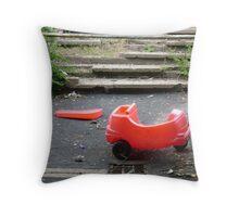 Little red car. Throw Pillow