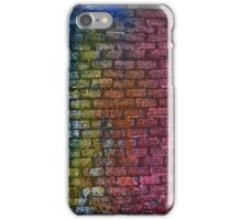 Brick textured wall on canvas ready for graffiti. iPhone Case/Skin