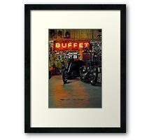 the buffet Framed Print