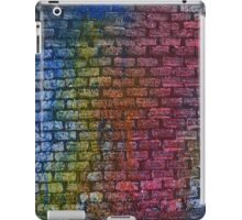 Brick textured wall on canvas ready for graffiti. iPad Case/Skin
